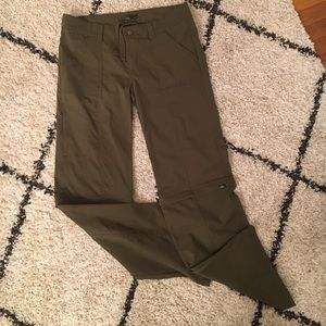 PRANA zip-off convertible hiking pants sz 14